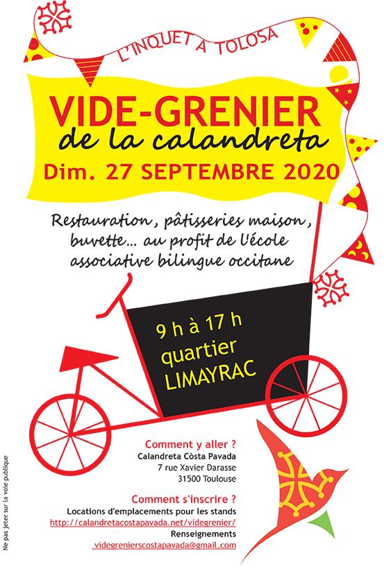 Vide grenier 27 septembre 2020 Calandreta Costa Pavada